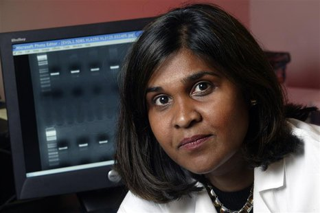 Undated handout photo shows Dr. Deborah Persaud, a virologist at Johns Hopkins Children's Center in Baltimore, Maryland in this image releas