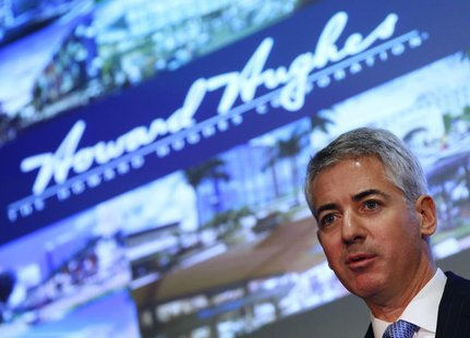 William Ackman, chief executive and portfolio manager of Pershing Square Management, speaks during the Harbor Investment Conference in New Y
