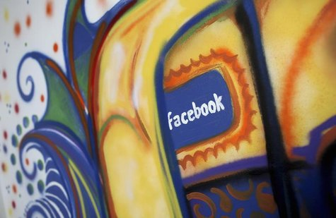 A painting is pictured at the Facebook headquarters in Menlo Park, California January 29, 2013. REUTERS/Robert Galbraith