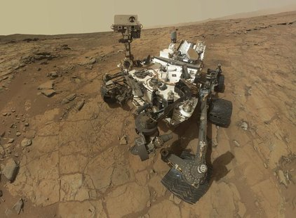 Self-portrait of the rover Curiosity, combining dozens of exposures taken by the rover's Mars Hand Lens Imager (MAHLI) during the 177th Mart