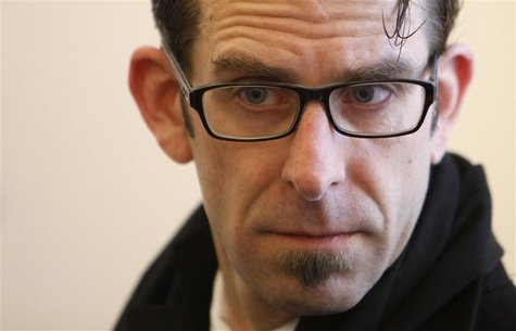 U.S. metal singer Randy Blythe attends his trial at the Municipal Court in Prague March 5, 2013. REUTERS/David W Cerny