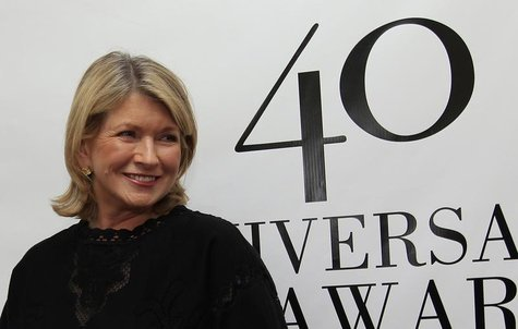 Martha Stewart poses on the red carpet during arrivals for The 40th Anniversary Fragrance Foundation FiFi Awards in New York May 21, 2012. R