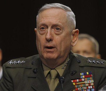 U.S. Marine Corps General James Mattis testifies before the Senate Armed Services Committee in Washington March 5, 2013, with regard to the