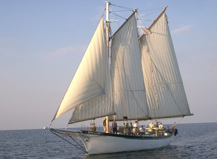 The tall ship Appledore IV is seen on the waters of Green Bay in 2006.
