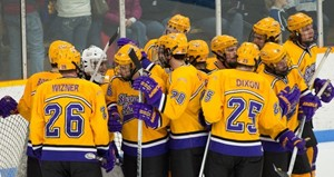 UW-Stevens Point Men's Hockey.  Photo courtesy of UWSP Athletic Department.