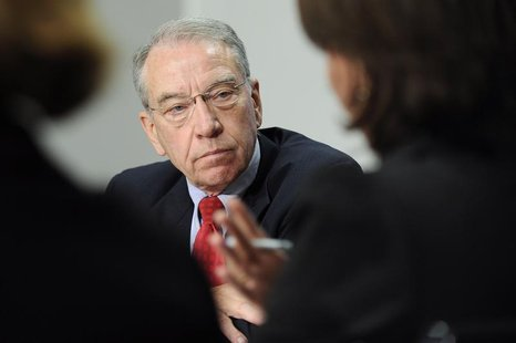 Senator Charles Grassley (R-IA) listens to a question during the 2009 Reuters Washington Summit in Washington, October 19, 2009. REUTERS/Jon