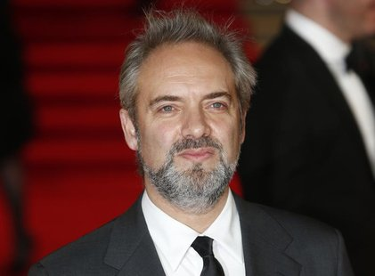 "Director Sam Mendes arrives for the royal world premiere of the new 007 film ""Skyfall"" at the Royal Albert Hall in London October 23, 2012."