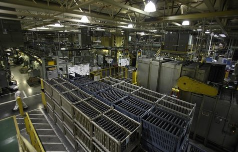 The crankshaft area is seen during a tour of the Honda automotive engine plant in Anna, Ohio October 11, 2012. REUTERS/Paul Vernon