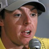 Northern Ireland's Rory McIlroy speaks at a news conference during a practice day for the 2013 WGC-Cadillac Championship PGA golf tournament