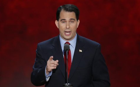 Wisconsin Governor Scott Walker addresses the second session of the Republican National Convention in Tampa, Florida August 28, 2012. REUTER