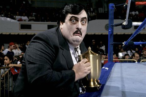 William Moody, known as WWE Manager Paul Bearer, is pictured in this undated handout photo courtesy of the WWE. REUTERS/WWE/Handout