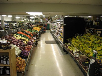 The interior of a Whole Foods Market location.