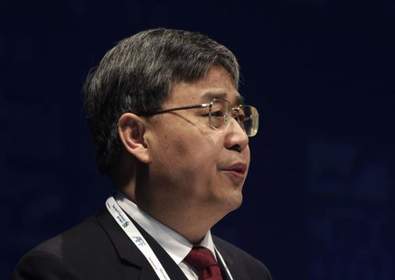 China Securities Regulatory Commission (CSRC) Chairman Guo Shuqing addresses the Asian Financial Forum in Hong Kong January 14, 2013. REUTER