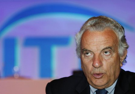 International Tennis Federation (ITF) President Francesco Ricci Bitti of Italy speaks during a news conference at a hotel in Bangkok Septemb
