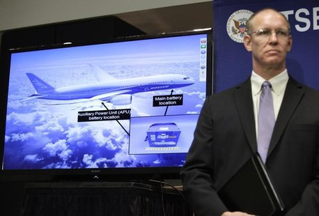 John DeLisi, director of the National Transportation Safety Board (NTSB) Office of Aviation Safety; attends a news conference on an investig