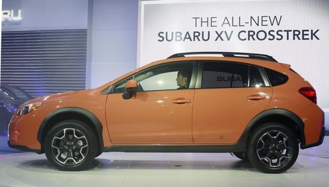 The 2013 Subaru XV Crosstrek is seen at the 2012 New York International Auto Show at the Javits Center in New York, April 5, 2012. REUTERS/A