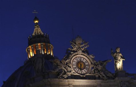 Saint Peter's Basilica is pictured at the Vatican March 7, 2013. REUTERS/Stefano Rellandini