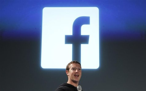 Facebook CEO Mark Zuckerberg addresses the audience during a media event at Facebook headquarters in Menlo Park, California March 7, 2013. R
