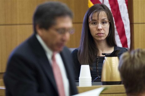 Jodi Arias is questioned by prosecutor Juan Martinez in Maricopa County Superior Court in Phoenix, March 5, 2013. REUTERS/Tom Tingle/The Ari