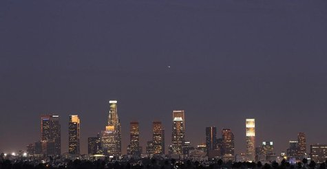The Los Angeles downtown skyline is pictured August 22, 2011. REUTERS/Mario Anzuoni