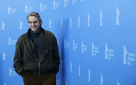 "Actor Jeremy Irons smiles during a photocall to promote the movie ""Night Train to Lisbon"" at the 63rd Berlinale International Film Festival"