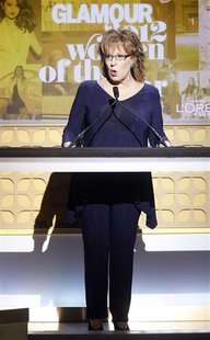 Television personality Joy Behar talks during the Glamour Magazine Women of the Year Awards event in New York November 12, 2012. REUTERS/Car