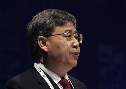 China Securities Regulatory Commission (CSRC) Chairman Guo Shuqing addresses the Asian Financial Forum in Hong Kong in this January 14, 2013