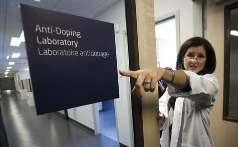 Dr. Christiane Ayotte talks about areas in the brand new anti-doping lab set up at the Olympic Oval in Richmond, British Columbia October 21