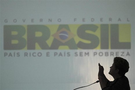 Brazil's President Dilma Rousseff speaks during a meeting with governors and mayors at the Planalto Palace in Brasilia, March 6, 2013. REUTE