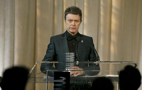 Singer David Bowie receives the Webby Lifetime Achievement award during the 11th annual Webby Awards honoring online content in New York Jun