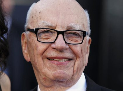 Chairman and CEO of News Corporation Rupert Murdoch arrives at the 85th Academy Awards in Hollywood, California February 24, 2013. REUTERS/L
