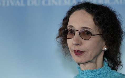 "Writer Joyce Carol Oates poses during a photocall after she won the Literary Award with her book ""Blonde"" at the 36th American film festival"