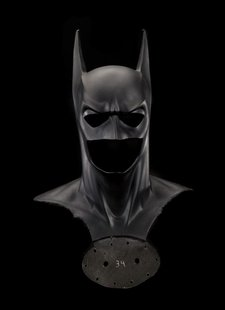 "The Batman mask and cowl from the 1995 film ""Batman Forever"" is pictured in this undated publicity photograph released to Reuters March 8, 2"