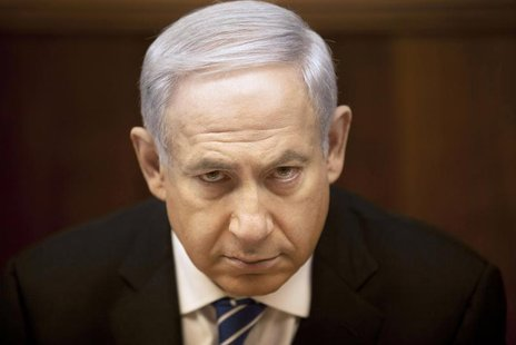 Israel's Prime Minister Benjamin Netanyahu attends the weekly cabinet meeting in Jerusalem March 10, 2013.. REUTERS/Sebastian Scheiner/Pool