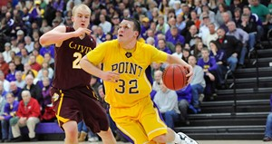 UW-Stevens Point Men's Basketball vs. Calvin College.  Photo courtesy UWSP Athletic Department.