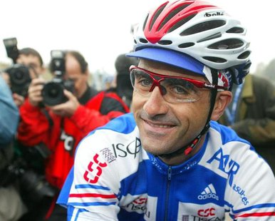 French cyclist Laurent Jalabert, one of the most successful riders of his generation, smiles ahead of the 2002 Cycling Road World Championsh