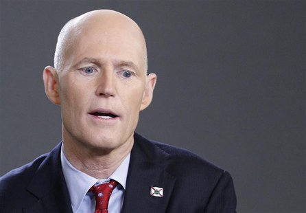 Florida Governor Rick Scott speaks during an interview in New York March 26, 2012. REUTERS/Brendan McDermid