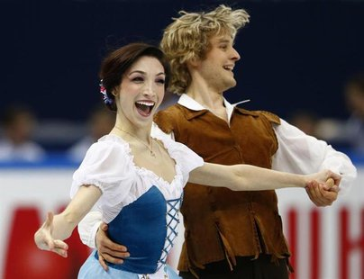 Meryl Davis and Charlie White of the U.S. perform during the ice dance short dance competition at the ISU Grand Prix of Figure Skating Final