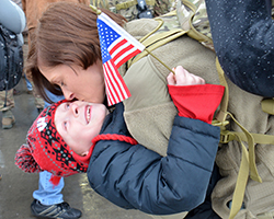 Wisconsin Air National Guard 115th Fighter Wing returns home.