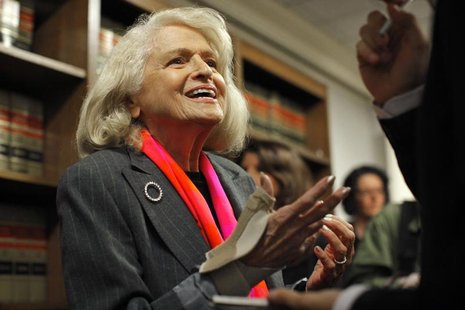 Edith Windsor, an 83-year-old woman who says the Defense of Marriage Act discriminates against gay couples in violation of the U.S. Constitu