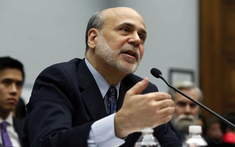 Chairman of the U.S. Federal Reserve Ben Bernanke speaks before the House Committee on Financial Services on Capitol Hill in Washington, Feb