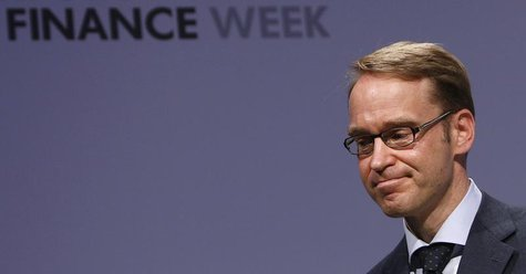 President of German Bundesbank Jens Weidmann reacts on the podium during the Frankfurt Euro Finance Week in Frankfurt November 19, 2012. REU