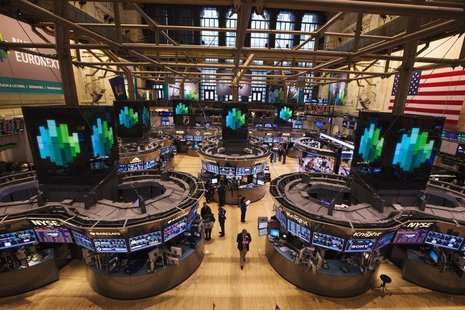 Traders work after the closing bell on the floor of the New York Stock Exchange, March 8, 2013. REUTERS/Lucas Jackson
