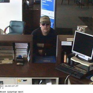 Suspected robber strikes BMO Harris Bank in Town of Algoma
