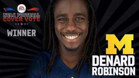 Denard Robinson wins the NCAA Football 2014 cover vote.