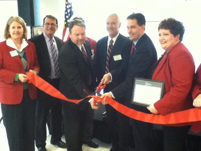 Ribbon Cutting to celebrate Collaborative's 1 year anniversary in Wausau 3/12/13