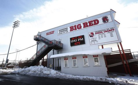 Harding Stadium, home of the Steubenville High Big Red football team sits in the middle of Steubenville, Ohio, January 8, 2013.REUTERS/Jason