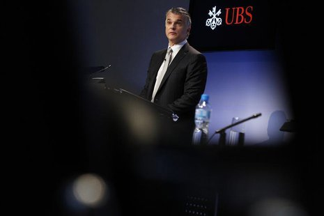 Swiss bank UBS CEO Sergio Ermotti addresses the annual news conference in Zurich February 5, 2013. REUTERS/Michael Buholzer