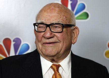 "Actor Ed Asner arrives for the taping of ""Betty White's 90th Birthday: A Tribute to America's Golden Girl"" in Los Angeles January 8, 2012. R"