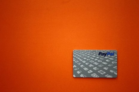 A PayPal card is shown as customers can now pay with the card at selected Home Depot stores such as the one in Daly City, California, Februa